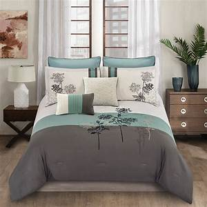 Riverbrook, Home, Emilie, Embroidered, Soft, Teal, 8pc, Queen