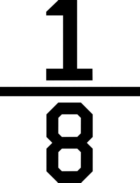 Numerical Fraction 18  Clipart Etc
