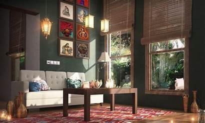 Cozy Interior Indian Spring Living Apartment Looks