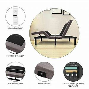 Adjustable Bed Base Queen Wireless Remote Usb Port