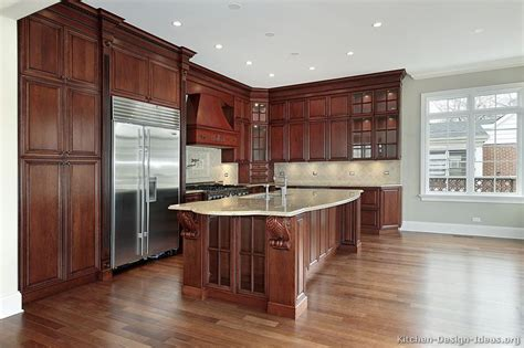 what color floor with dark cabinets cherry kitchen dark floors pictures to pin on pinterest