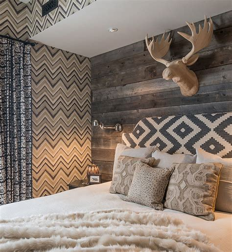 Log Cabin Style Meets Ethnic Modern Interior Design by Vikings View Interior In The Bedroom Modern