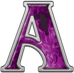 Reflective Letter A with Inferno Purple Flames :: Inferno ...