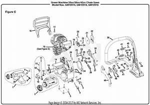 Homelite Gm10518 18 U0026quot  42cc Chain Saw Parts Diagram For Figure C