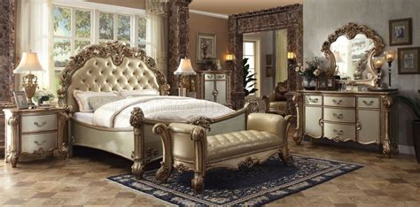 vendome bedroom gold  acme