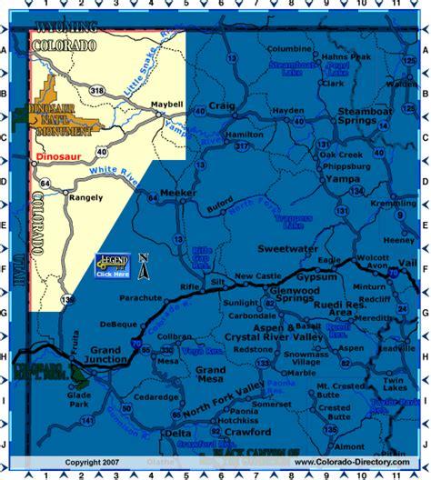 dinosaur colorado map northwest  map colorado