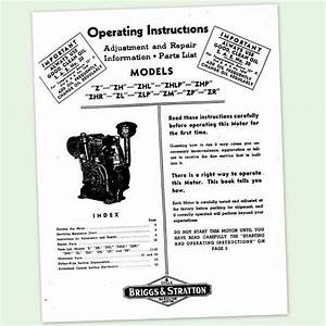 Briggs And Stratton Model Z Zh Zhl Engine Owners Operators