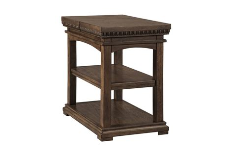 Larrenton Chair Side End Table In Grayish Brown By Ashley