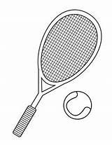 Tennis Racket Coloring Getcolorings Printable sketch template