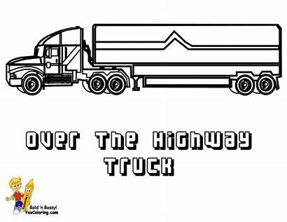 Coloring Pages Trucks Wheeler Truck Template Printable