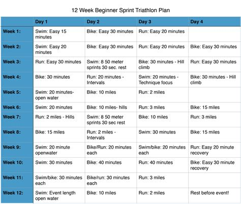 To Triathlon Program by To Sprint Triathlon Plan For The Busy Person