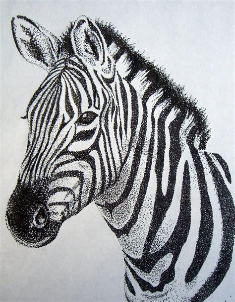 Zebra Sketch Zebra En 2018 Pinterest Puntillismo
