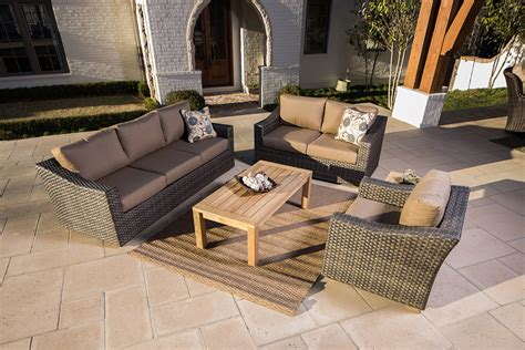 furniture wicker sofa with gray outdoor