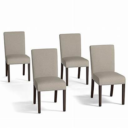 Chairs Dining Accent Chair Taupe Upholstered Wide