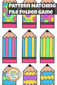 pattern matching free printable file folder game for With free file folder game templates