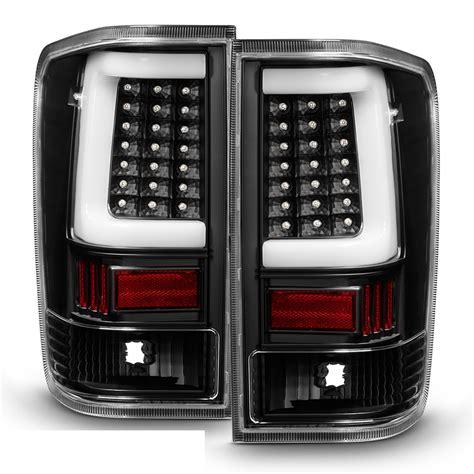 04 15 Nissan Titan Led Light Tube Style Tail Lights Black