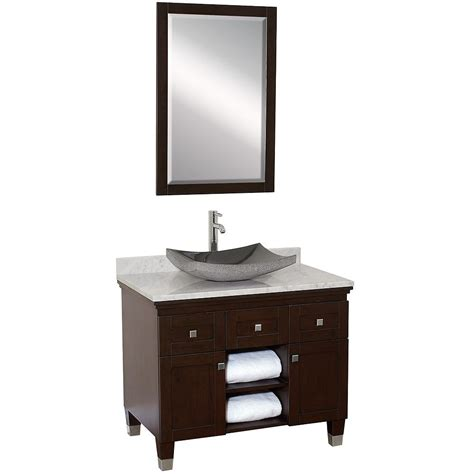 Bathroom Bowl Sinks Home Depot by 36 Quot Premiere Single Vessel Sink Vanity Espresso