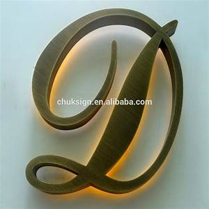 outdoor backlit brass letter vintage metal channel letter With decorative metal letters for outside