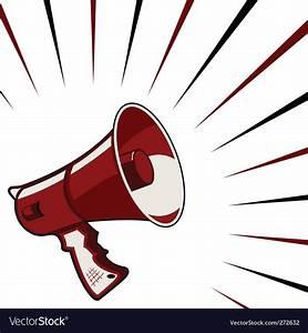 Megaphone announcement Royalty Free Vector Image