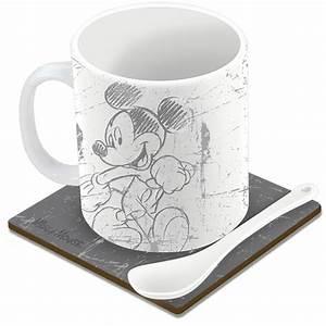Mickey Mouse Tasse : mug mickey mouse avec sous tasse et cuill re ~ A.2002-acura-tl-radio.info Haus und Dekorationen