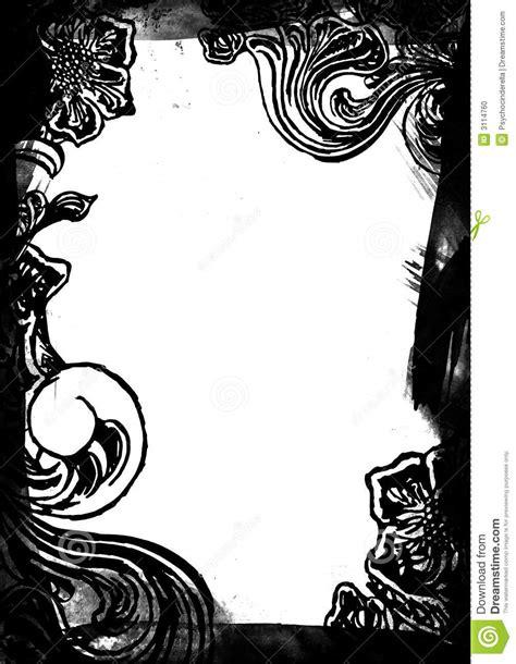 cadre noir et blanc cadre floral noir et blanc photo stock image 3114760