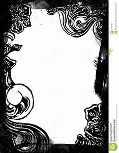 Cadre Noir Et Blanc : cadre floral noir et blanc photo stock image 3114760 ~ Teatrodelosmanantiales.com Idées de Décoration