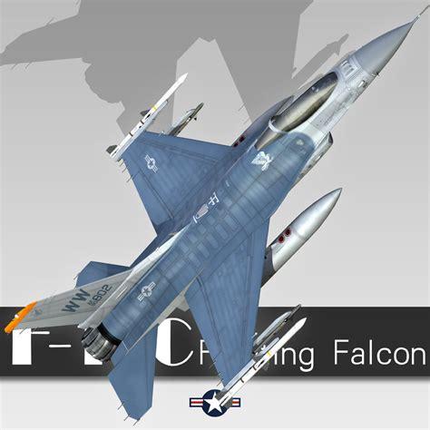 F-16c Fighting Falcon 3d Model .max .3ds