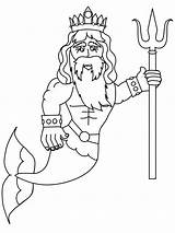 Coloring Pages Merman Cartoon Mermaid Fantasy Mermaids Cartoons Fairies Sheets Uploaded User sketch template