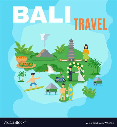 background map bali travel royalty  vector image