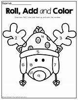 Coloring Math Kindergarten December Packet Packets Prep Fun Roll Preschool Dice Printables Reindeer Activities Numbers Colors Adding Classroom Them Way sketch template