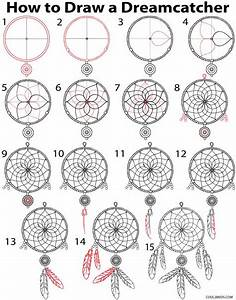 How to Draw a Dreamcatcher (Step by Step) | Cool2bKids