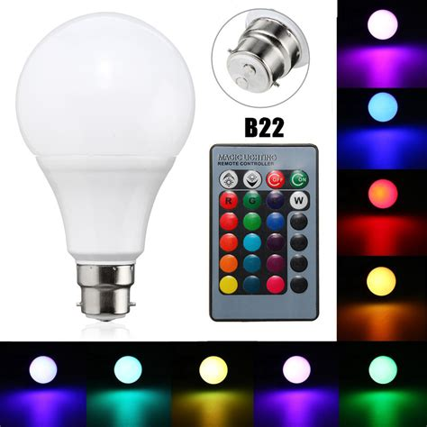 remote control color changing lights b22 10w dimmable rgb color changing led light l bulb