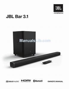 Jbl Bar 3 1 Owner U0026 39 S Manual Pdf Download
