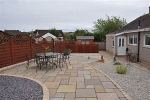 Low maintenance garden with attractive paved areas for
