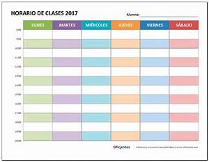 Horario de clases para imprimir, descarga formato editable en Excel