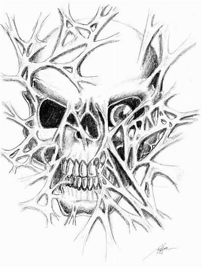 Tattoo Skull Skin Evil Drawings Drawing Ripping