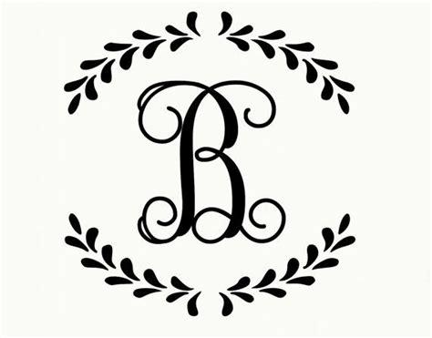 monogram decal laurel monogram wreath vinyl lettering wall decal vine font single initial