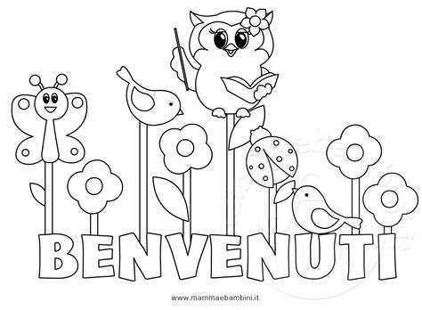 colorare disegni disegno da colorare per accoglienza scuola mamma e bambini