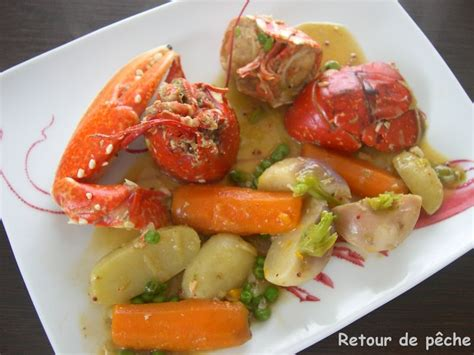 cuisiner un homard congelé homard breton en cocotte aux legumes nouveaux retour de pêche