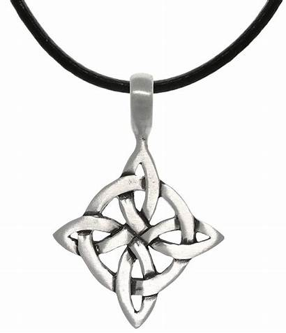 Jewelry Pewter Luck Celtic Knot Pendant Necklace