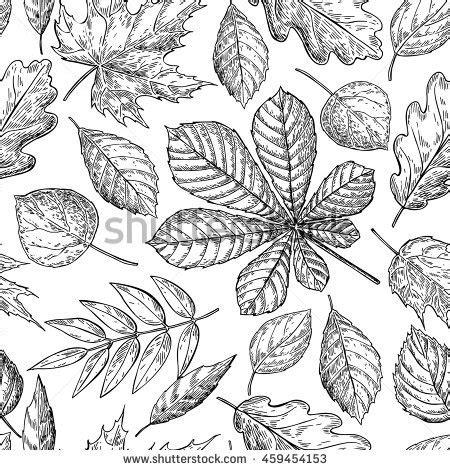 invitation wedding template seamless pattern autumn leaves chestnut leaf stock