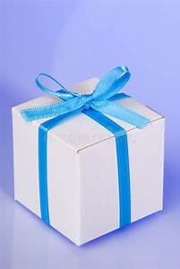 blue gift box stock image image of present package