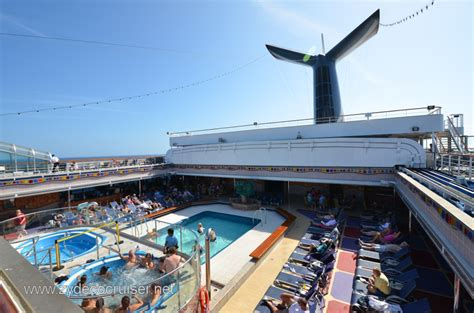 carnival conquest lido deck plan the sky pool and bar