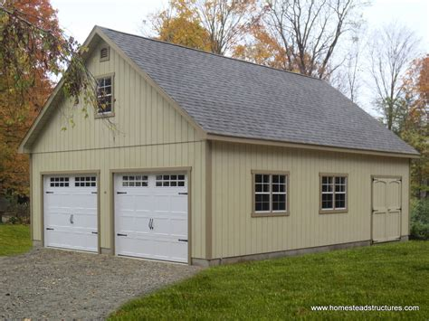 two story garage 2 car garage homestead structures
