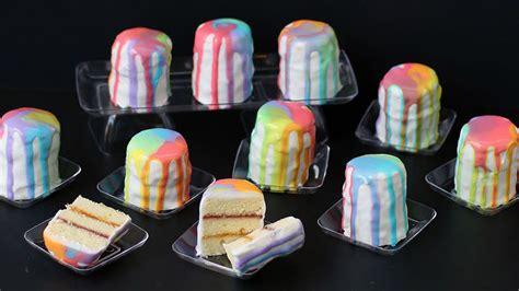 rainbow petit fours recipe tablespooncom