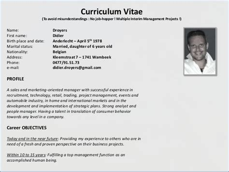 Marital Status Married Resume by Cv Powerpoint 2012