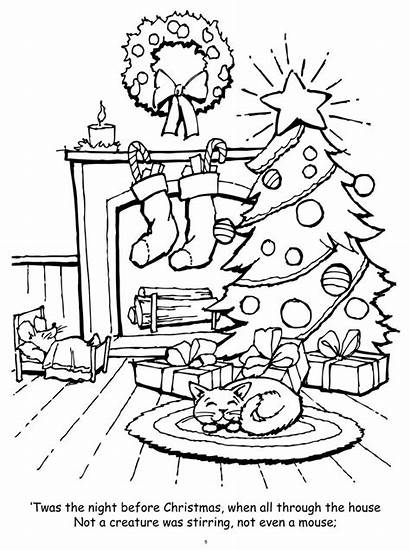 Coloring Christmas Pages Night Twas Before Sheets
