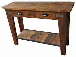 Tall, Side, Table, With, 2, Drawers, -, Rustic, -, Side, Tables, And, End, Tables