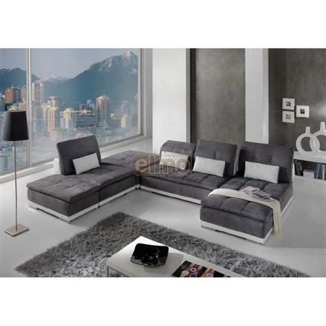canapé tissu marron canapé modulable canapé d 39 angle contemporain