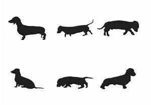Wiener Dog Vector Silhouettes - Download Free Vector Art ...